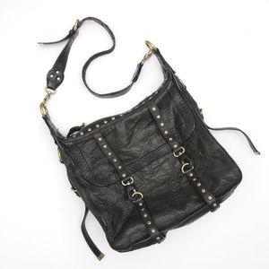 b146e307b628 Cynthia Rowley Leather Satchel Bag Moto Vintage